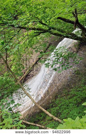 Alongside Silver Cascade Falls