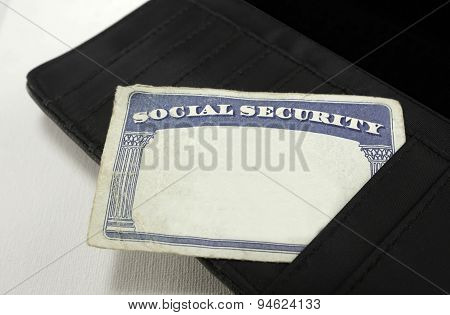 Blank Social Security Card