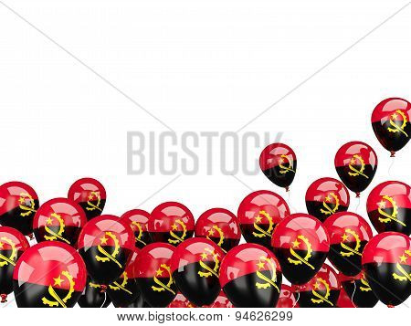 Flying Balloons With Flag Of Angola