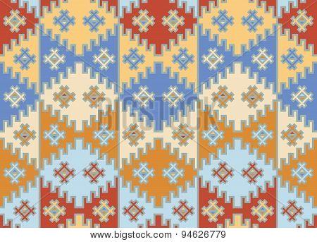 Seamless Mosaic Background. Indian Style.
