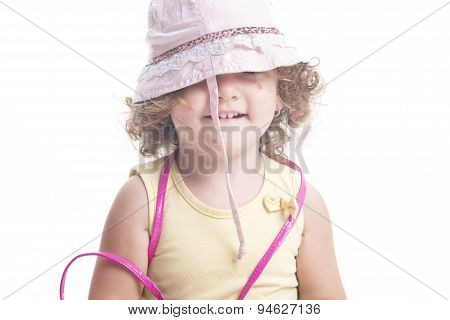Child Covered By Hat