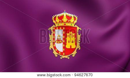 Flag Of Burgos Province, Spain.