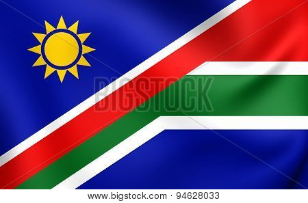 Flag Of Namibia And South Africa
