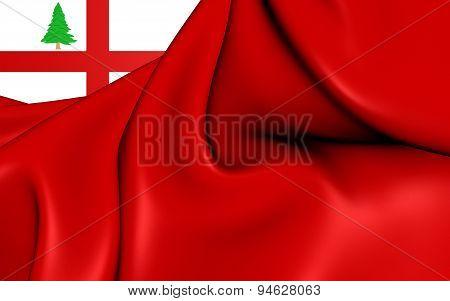 Flag Of New England, Usa.