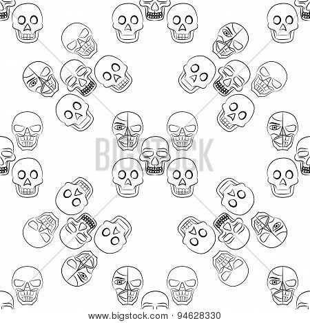 Day of the Dead Sugar Skull Seamless pattern