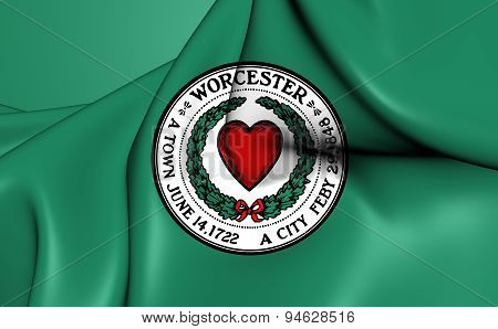 Flag Of Worcester, Usa.