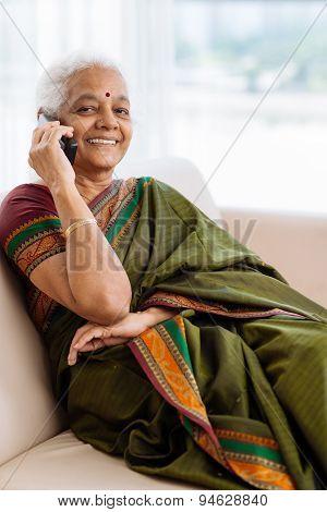 Modern Senior Indian Woman