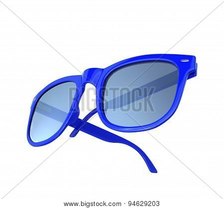 Blue Sunglass Isolated