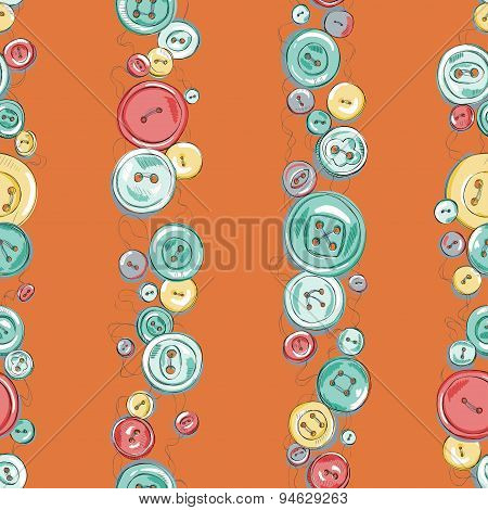 Strips of hand drew buttons. kids vector illustration