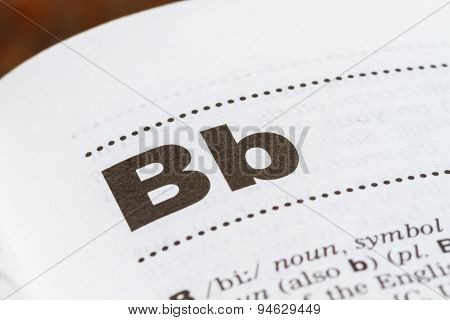 Letter B In Dictionary