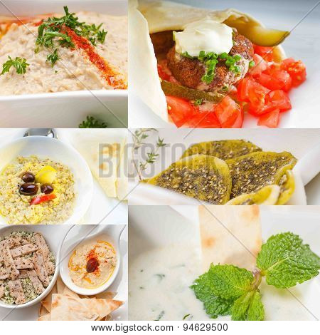 Middle East Food Collage