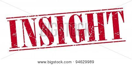 Insight Red Grunge Vintage Stamp Isolated On White Background