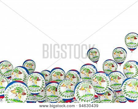 Flying Balloons With Flag Of Belize