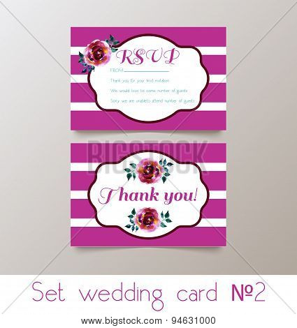 A set weddings  invitation
