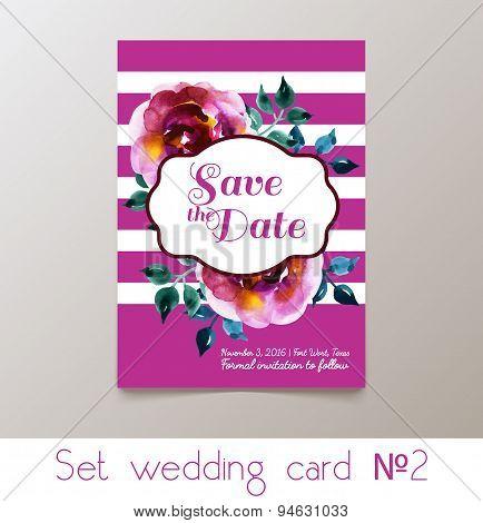 A set weddings  invitation