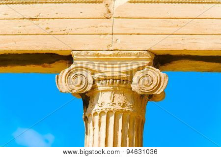 Column Close Up Acropolis, Greece.