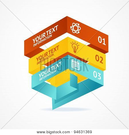 Vector pyramid chart isometric templates with options