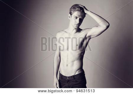 Handsome Man Posing In The Studio