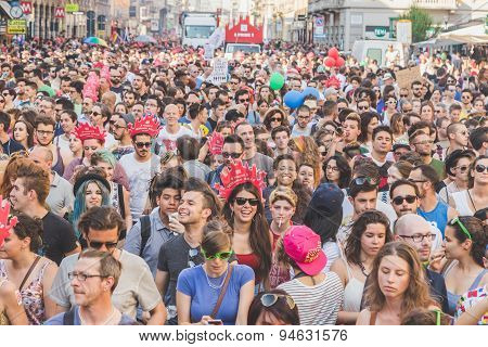 People Taking Part In Milano Pride 2015