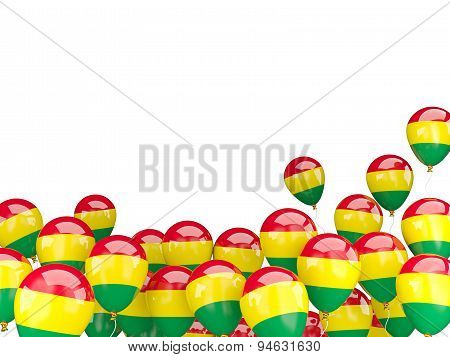 Flying Balloons With Flag Of Bolivia