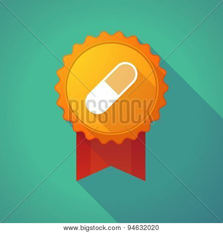 Long Shadow Badge With A Pill