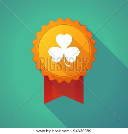 Long Shadow Badge With A Clover