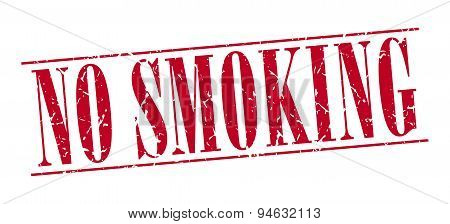 No Smoking Red Grunge Vintage Stamp Isolated On White Background