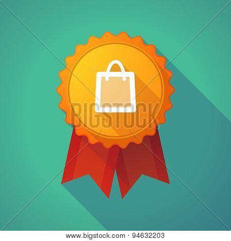 Long Shadow Badge With A Shopping Bag