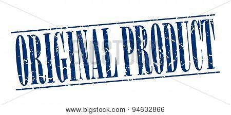 Original Product Blue Grunge Vintage Stamp Isolated On White Background