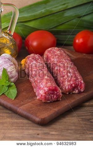 Raw Turkish Traditional Meat Kebab