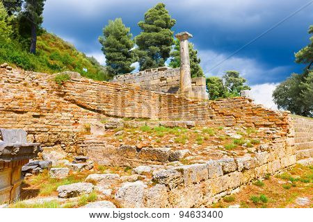Ruins In Olympia, Greece