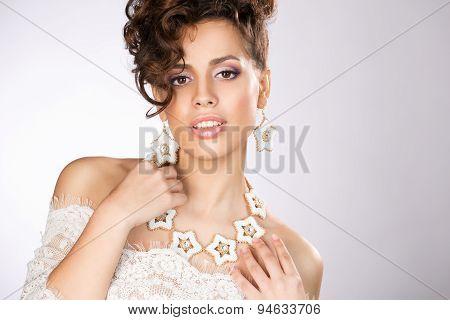 Bride Posing In The Studio