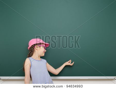 girl near the school board