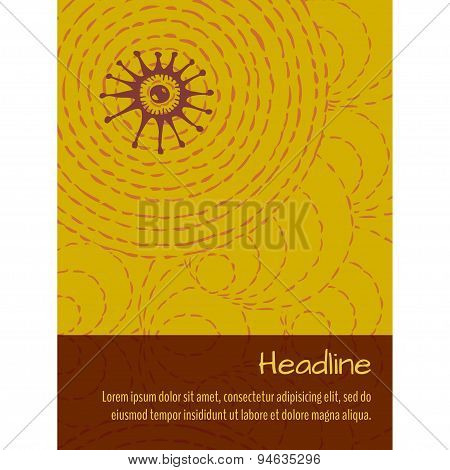 Ethnic Background With Place For Text. Brochure Template