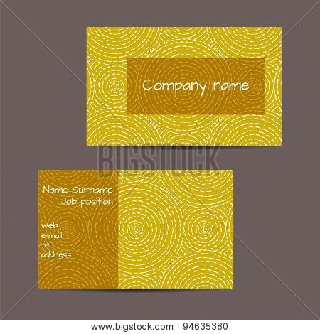 Business Card With Ethnic Design
