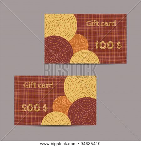 Gift Cards With Ethnic Design
