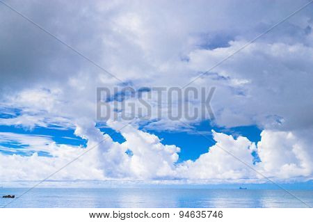 Seascape Panorama Sunny Panorama