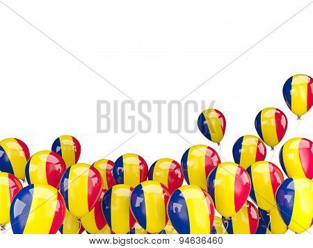 Flying Balloons With Flag Of Chad