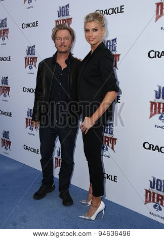 LOS ANGELES - JUN 24:  David Spade, Charlotte McKinney at the