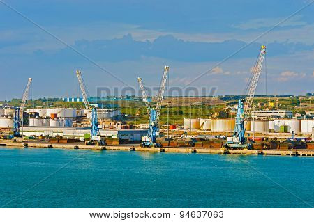 Harbour In Civitavecchia, Italy