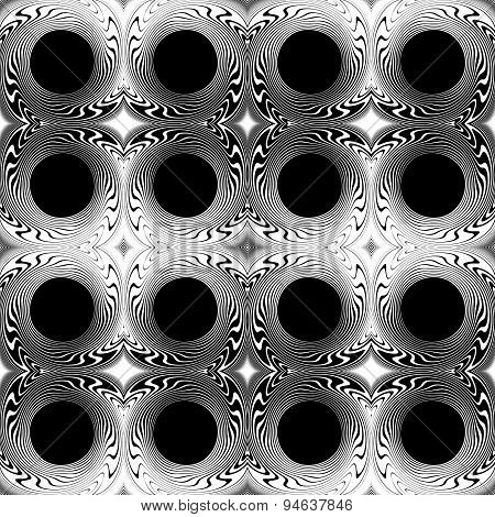 Design Seamless Monochrome Circle Geometric Background