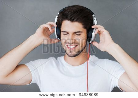 Enjoying His Favorite Music.