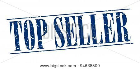 Top Seller Blue Grunge Vintage Stamp Isolated On White Background