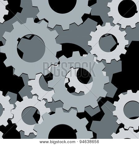 Seamless Both Side Cogwheels Pattern