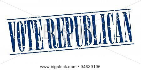 Vote Republican Blue Grunge Vintage Stamp Isolated On White Background