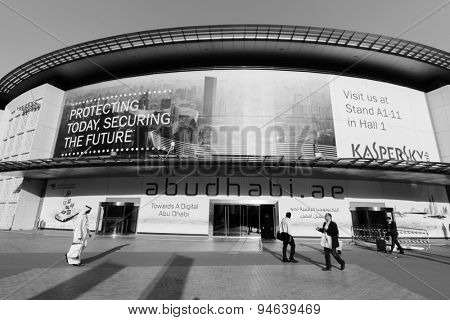 DUBAI - OCT 16: area near exhibition centre on October 16, 2014. Dubai is the most populous city and emirate in the UAE, and the second largest emirate by territorial size after the capital, Abu Dhabi
