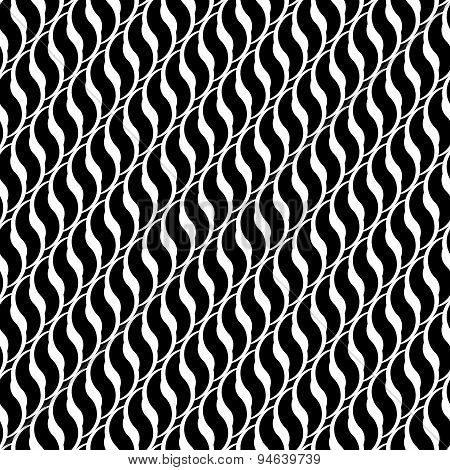 Design Seamless Monochrome Interlaced Pattern