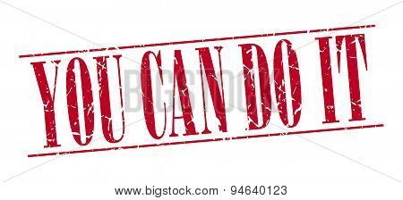 You Can Do It Red Grunge Vintage Stamp Isolated On White Background