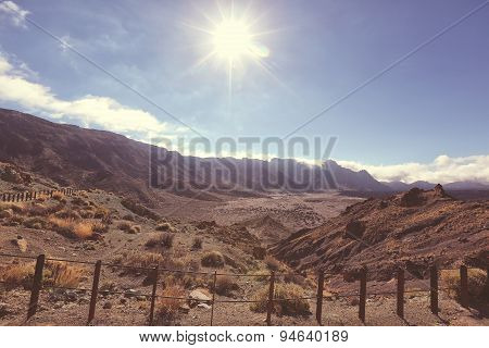 Sunlight At Teide National Park, Tenerife