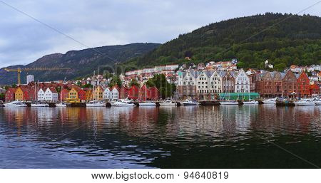 Bergen Norway panorama - architecture and travel background